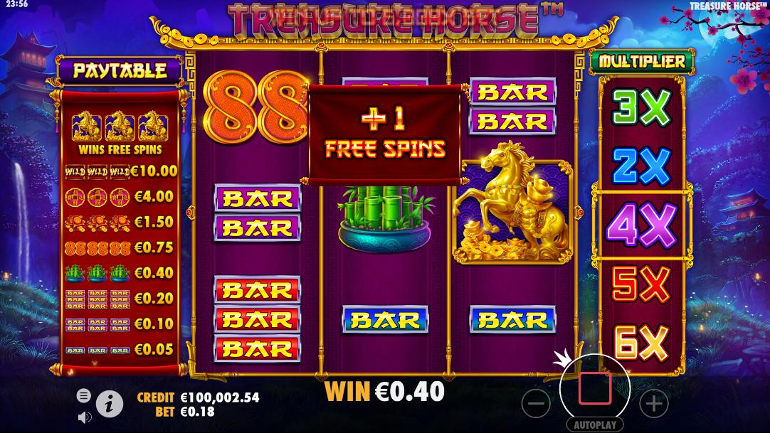 Ronda extra adicional no Treasure Horse