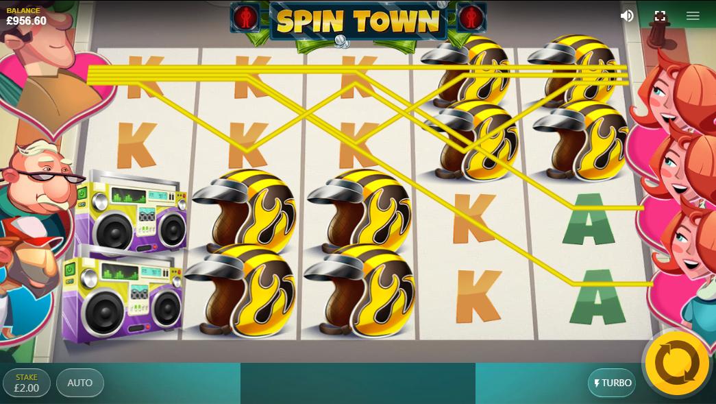 Čekající wild symboly na automatu Spin Town