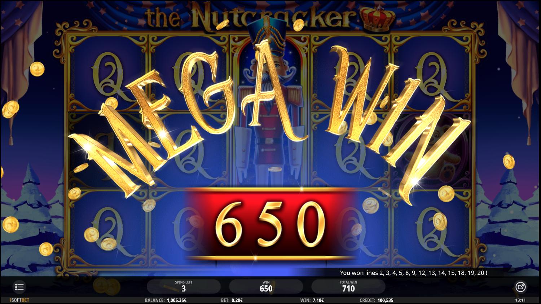 Mega výhra na automatu Nutcracker