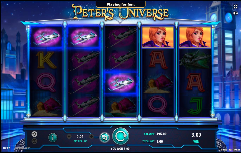 Выигрыш в слоте Peter's Universe