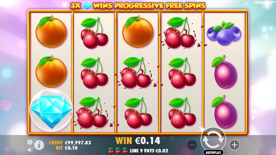 Tabella dei payout della slot Extra Juicy