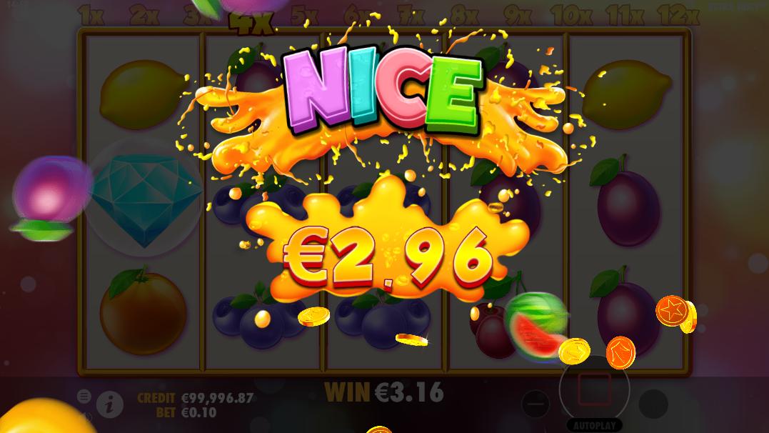 Vincita agli spin gratuiti della slot Extra Juicy