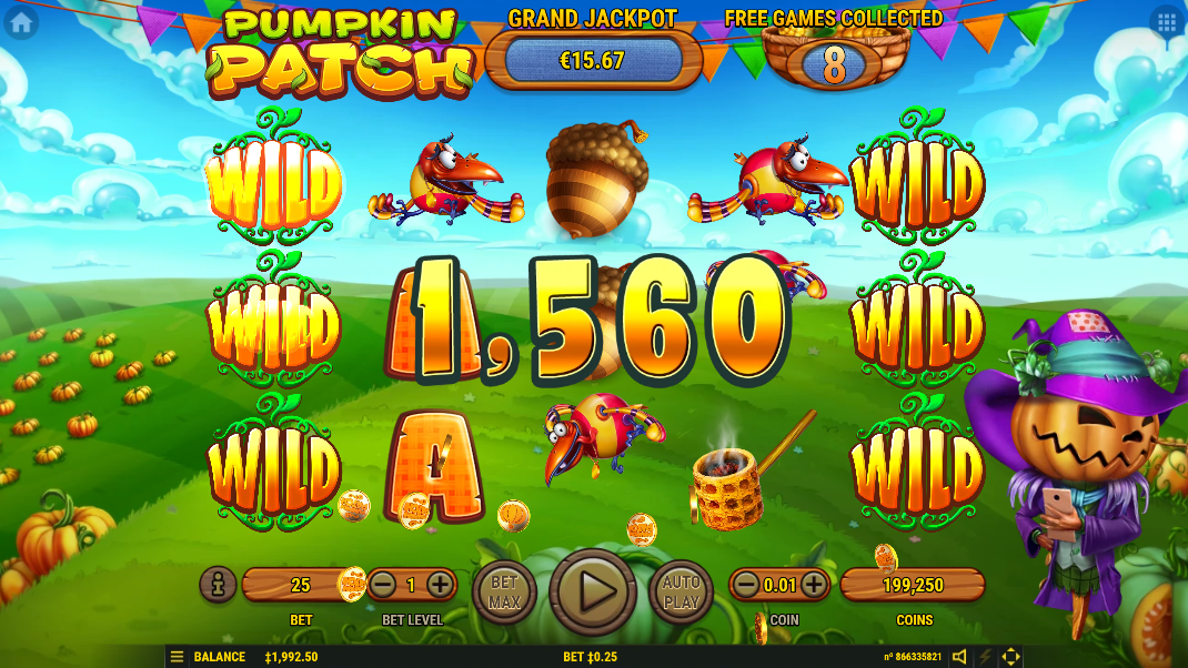 Великий виграш у Pumpkin Patch