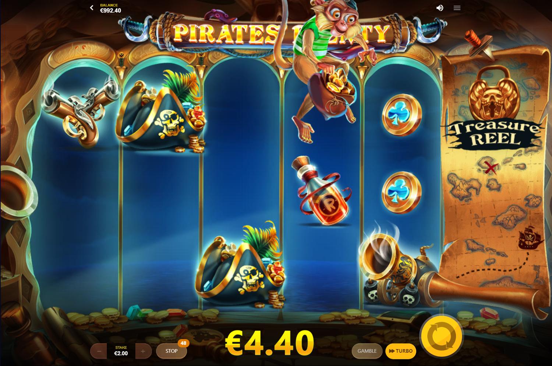 Σύμβολο Μπαλαντέρ Μαϊμού στον κουλοχέρη Pirates' Plenty