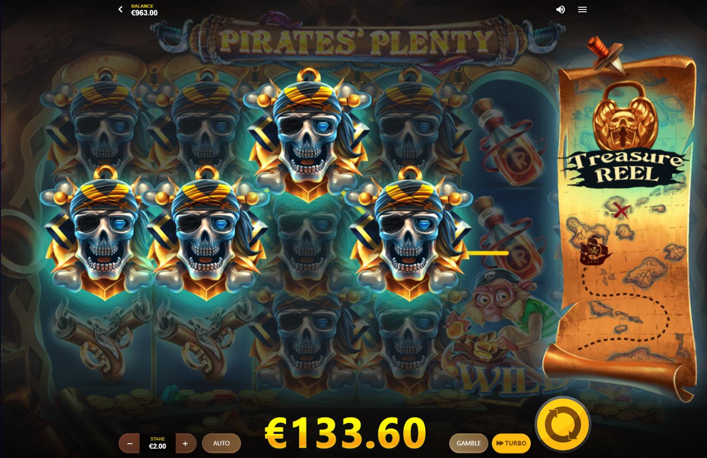 Μεγάλο κέρδος με κορυφαίο σύμβολο στο Pirates' Plenty