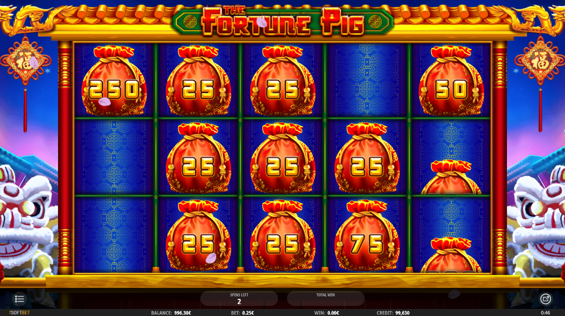 Λειτουργία Cash Respins στο The Fortune Pig