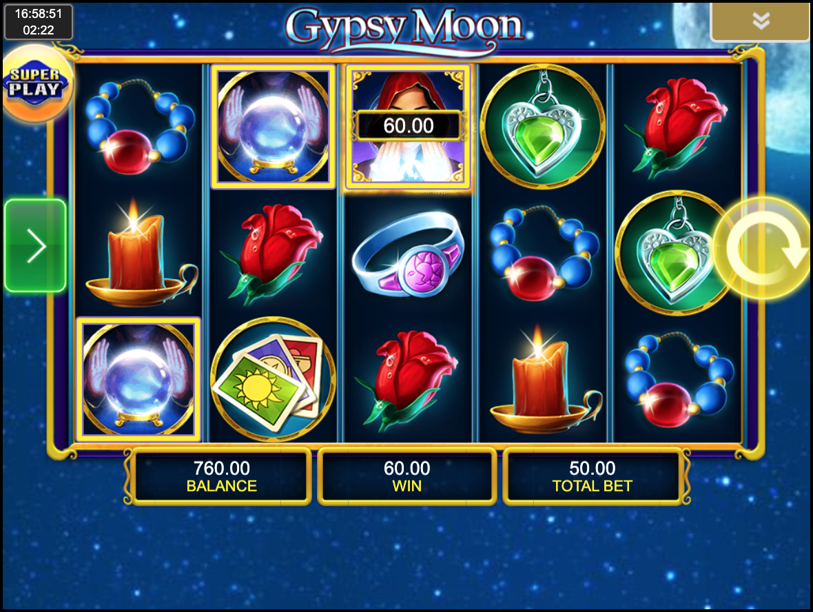 Выигрыш в Gypsy Moon