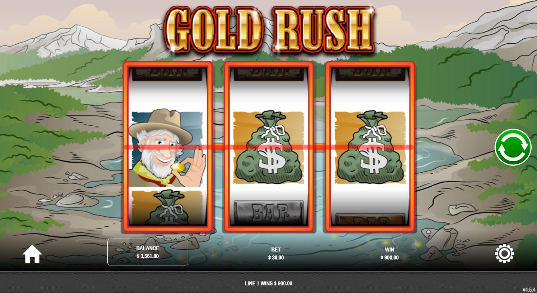 Выигрыш с символом Scatter в слоте Gold Rush от Rival