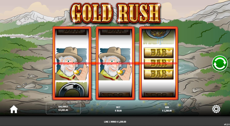 Крупный выигрыш с 2 вайлдами в Gold Rush от Rival