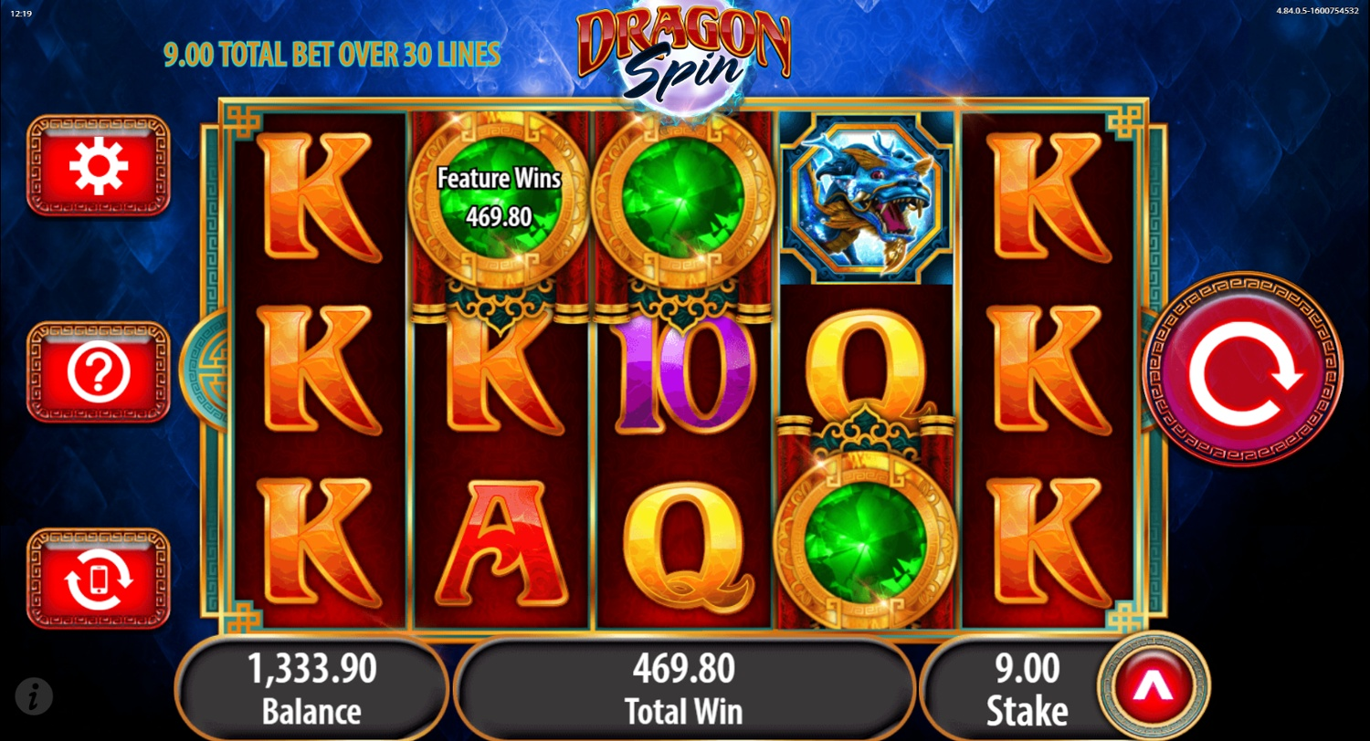 Dragon Spin free spins big win