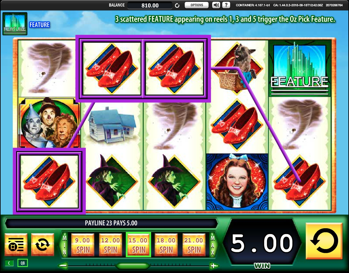 Wizard of Oz slot win
