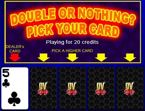 Pick Cards - Double Up Option